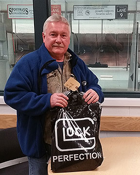 January 2016 GLOCK prize package winner Dale K at Fairbanks Fish and Game Range NRA MQP