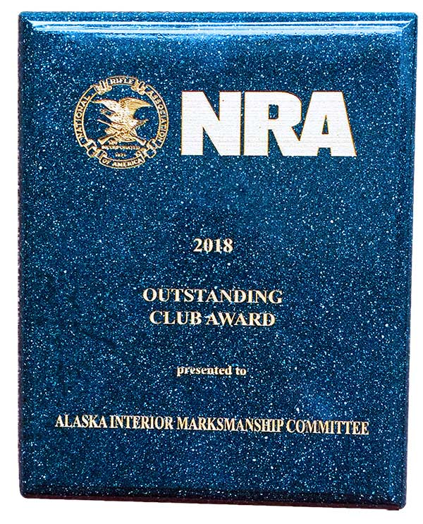 AIM COMM NRA 2018 Outstanding Club Award plaque 600pxw